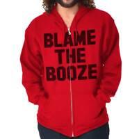 Blame Booze Funny Shirt | Beer Drunk Drinking Cool Gift Idea Zip Hoodie