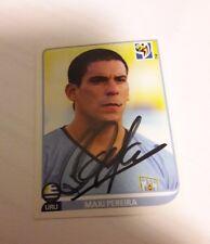 Panini Sticker WM 2010 signiert Maxi Pereira Uruguay NEU