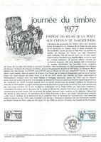 1e jour Timbre sur document philatélique Journée du timbre 1977
