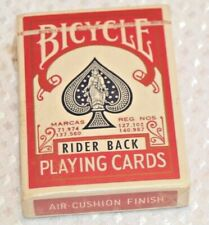 Vintage Sealed Bicycle Deck Playing Cards 808 Rider Back Air Cushion Poker