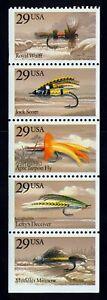 #2549a 29c Fishing Flies, Mint **ANY 5=FREE SHIPPING**