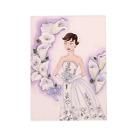 Audrey  the White Lily Hand Illustrated Greeting Card