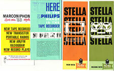 TV & Tape recorders Stella Marconiphone Philips advertising promotion brochures