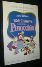 Original Disney PINOCCHIO 1 Sheet near mint 1978 Release