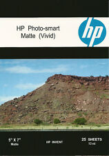 HP Photo-smart Matte Vivid~5 x 7 Photo Paper~25ct~HARD~TO~FIND~SIZE~IN~MATTE
