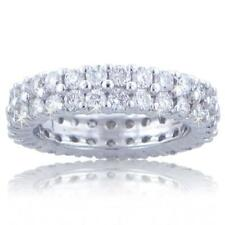 3.00 Ct. TW Round Diamond Double Wide Eternity Wedding Band 18 kt White Gold
