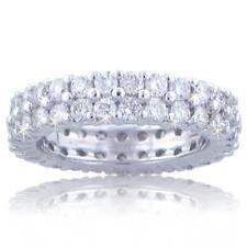 3.00 Ct. Tw Round Diamond Double Wide Eternity Wedding Band 18 kt White Gold