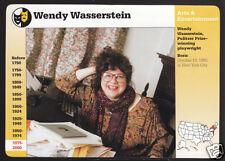 WENDY WASSERSTEIN Playwright Photo Bio 1997 GROLIER STORY OF AMERICA CARD