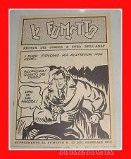 Supplemento fanzine IL FUMETTO N 17 ANAF 1975