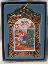Lenox Ornament Gold Filigree Girls Christmas Caroling 1997 Nib