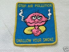 Stop Air Pollution Swollow Your Smoke Vintage Patch ( 014*)