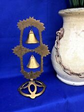 Antique Brass Chinese China Double Dinner Bell Ringer 2 Tier Dragon Bird Estate