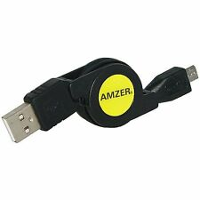 Amzer Micro USB Retractable Data Sync Charge Cable