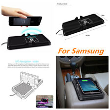 Car Dashboard Holder Mount Non-Slip Silicone Mat Qi Wireless Charger For Samsung