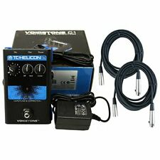 TC Helicon C1 Pitch-correction Effects Pedal +Power Supply+2 20' XLR Mic Cables