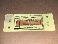 1965 Ticket Stevie Wonder 4 Tops Temptations Martha Vandellas Junior Walker Usa
