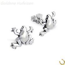 Wackel Frosch Ohrstecker Echt 925 Silber Ohrringe Kinder Geschenkidee z160