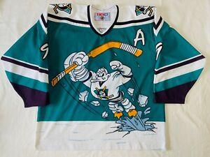 XL CCM Anaheim Mighty Ducks Wild Wing Paul Kariya Hockey Jersey