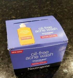 12 NEUTROGENA Oil-Free Acne Face Wash w Salicylic Acid Travel Size .5 Oz. New