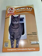Chubby Kat Large Cat Door (Flap Sz: 7.5 X 10.5), Cats 25lbs, 4way Lock, Pre