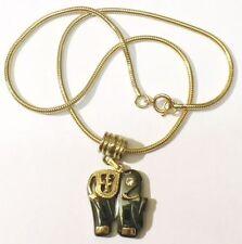 pendentif chaine bijou rétro éléphant hématite véritable cristal diamant * 4121
