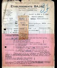 """LIANCOURT (60) MACHINE AGRICOLE """"Ets. BAJAC"""" 1948"""