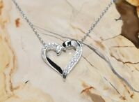 CZ Heart Necklace 925 Sterling Silver