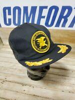 Vintage NRA Black Mesh Trucker Hat Golden Leaf - Snapback Cap USA National Rifle