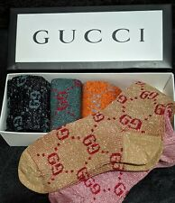 Gucci Sold Out Assorted Colors Socks Box Set Of 5 Brand New With Box