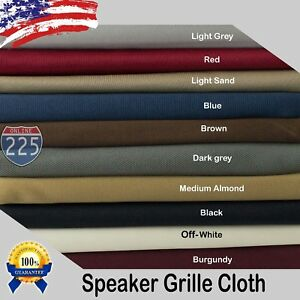"""All Colors Stereo Speaker Grill Cloth Fabric 36"""" x 66"""" 16.5 Square Feet FT 3D US"""
