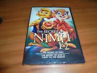 The Secret of Nimh/Nimh 2: Timmy to The Rescue (DVD, 2014, 2-Disc) NIM Nihm NEW
