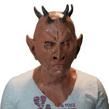 The Mask Biz Ugly Devil Satan Mask Latex Animal Prank Party Costume Horn Crazy