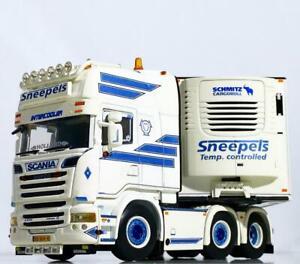 "Scania streamline topline 6x2 reefer trailer ""Sneepels"" WSI truck models 01-3352"