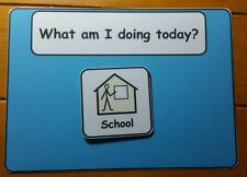 School or Home Today Visual Aid/Support for Autism/ADHD/ASD/SEN