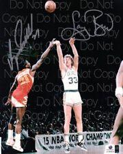 Dominique Wilkins & Larry Bird signed 8X10 photo picture poster autograph RP