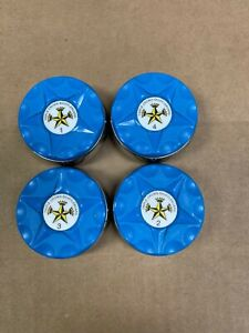 NEW TRIPLE CROWN LARGE TABLE SHUFFLEBOARD OLD STYLE BLUE WEIGHTS PUCKS - FLAT