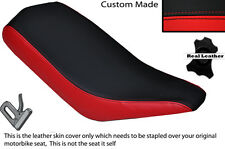 BLACK & RED CUSTOM FITS BASHAN 200 QUAD DUAL LEATHER SEAT COVER ONLY
