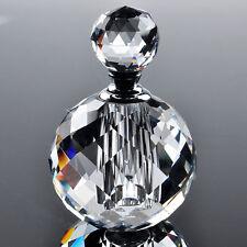 Clear Crystal Perfume Empty Bottle Glass Art Atomizer Decor Elegant Lady Gifts
