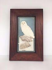 Medicine Bluff Snowy Owl Art Tile Arts & Crafts Mission Style Oak Park Frame