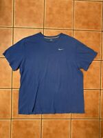 Nike Embroidered Swoosh Shirt Sz 3XL Blue Regular Fit Athletic Basic Classic Air