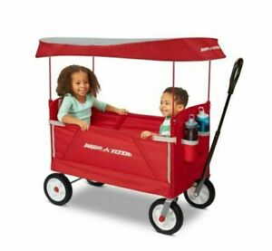 Radio Flyer 3-In-1 Off-Road EZ Fold Wagon with Canopy - Red