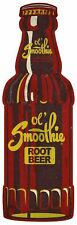 OL SMOOTHIE ROOT BEER BOTTLE SHAPE HEAVY DUTY USA MADE METAL ADVERTISING SIGN