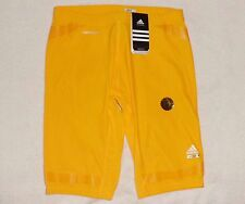 NEW Adidas Gold Basketball Techfit Powerweb Compression Shorts NWT XLT XL Tall