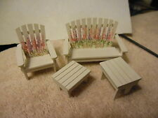 """1/2 """" scale  Hand painted patio set for  miniature doll houses"""
