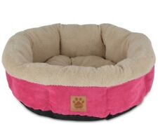 Brand New hot pink round bolster dog bed by Mod Chic Wayfair small
