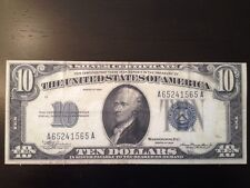 Reproduction $10 Bill Silver Certificate 1934 Alexander Hamilton US Treasury Ten