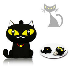 1pc 32GB Halloween Black Cat Yellow Eye Animal USB Flash Thumb Drive USA Shipper