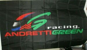 ANDRETTI GREEN RACING SINGLE SIDED 3 x 5 FLAG ! FAST SHIPPING !