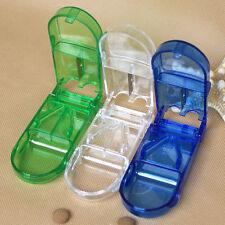 Tablette Pille Box Tablettenteiler Reisen Pillenteiler Pillenschneider Cutter