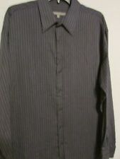 KENNETH COLE REACTION-16 1/2 34/35 BLACK/GRAY SHIRT